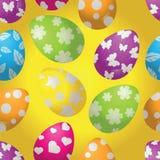 Modello senza cuciture con le uova di Pasqua Immagini Stock