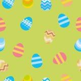 Modello senza cuciture con le uova di Pasqua illustrazione di stock