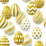 Modello senza cuciture con le uova di Pasqua realistiche illustrazione vettoriale