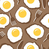 Modello senza cuciture con le uova rimescolate Fotografia Stock