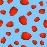 Modello senza cuciture con peperone dolce Fotografia Stock Libera da Diritti