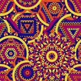 Modello senza cuciture con sette chakras Ornamenti orientali per le insegne, carte ed o per la vostra progettazione Elementi deco Fotografie Stock