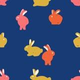modello senza cuciture, coniglio Fotografia Stock Libera da Diritti