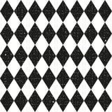 Modello senza cuciture d'annata in bianco e nero con il rombo royalty illustrazione gratis