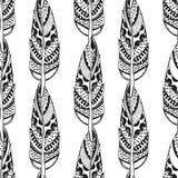Modello senza cuciture d'annata con gli elementi tribali illustrazione di stock