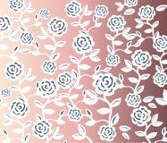 Modello senza cuciture d'annata delle rose Fotografie Stock Libere da Diritti