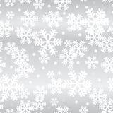 Modello senza cuciture d'ardore dei fiocchi di neve d'argento di Natale illustrazione vettoriale