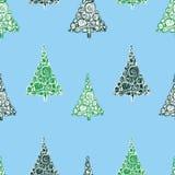 Modello senza cuciture dagli alberi di Natale decorativi Fotografia Stock