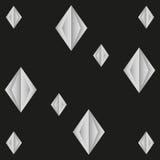 Modello senza cuciture dai diamanti di carta sottragga la priorità bassa Immagine Stock