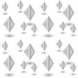 Modello senza cuciture dai diamanti di carta sottragga la priorità bassa Fotografia Stock Libera da Diritti