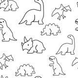 Modello senza cuciture dai dinosauri illustrazione di stock