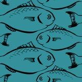 Modello senza cuciture dai pesci royalty illustrazione gratis