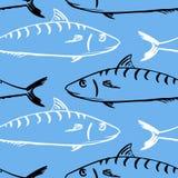 Modello senza cuciture dai pesci illustrazione vettoriale