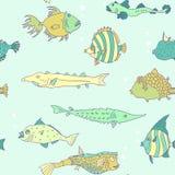 Modello senza cuciture dal pesce tropicale royalty illustrazione gratis