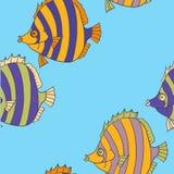 Modello senza cuciture dal pesce tropicale illustrazione vettoriale