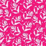 Modello senza cuciture dalle rose rosa Fotografia Stock Libera da Diritti