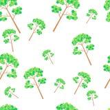 Modello senza cuciture decorativo con i tronchi degli alberi Vettore degli alberi royalty illustrazione gratis