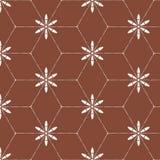 Modello senza cuciture decorativo floreale astratto del batik Immagine Stock