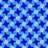 Modello senza cuciture decorativo moderno con differenti forme geometriche delle tonalità blu Fotografie Stock Libere da Diritti