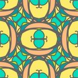 Modello senza cuciture decorativo multicolore con gli ornamenti del mosaico Fotografia Stock Libera da Diritti