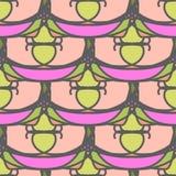 Modello senza cuciture decorativo rosa con gli elementi del mosaico Fotografia Stock Libera da Diritti