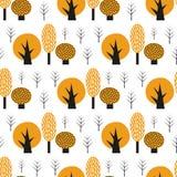 Modello senza cuciture degli alberi svegli scandinavi di stile Immagini Stock Libere da Diritti