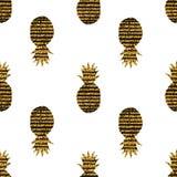 Modello senza cuciture degli ananas creativi Fotografia Stock Libera da Diritti