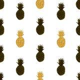 Modello senza cuciture degli ananas creativi Fotografia Stock