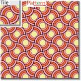 Modello senza cuciture degli anelli circolari o dischi che sono sovrapposti illustrazione vettoriale