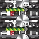 Modello senza cuciture degli elementi dell'audio dell'utente Immagini Stock