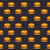 Modello senza cuciture degli hamburger Immagini Stock Libere da Diritti