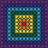 Modello senza cuciture degli incroci dei colori dell'arcobaleno Fotografie Stock Libere da Diritti