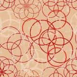 Modello senza cuciture degli ornamenti del cerchio, fondo senza cuciture w Struttura di Grunge illustrazione di stock