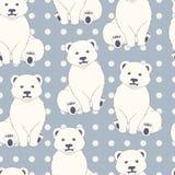 Modello senza cuciture degli orsi polari Immagine Stock