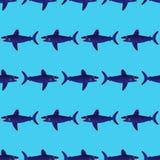 Modello senza cuciture degli squali Immagini Stock