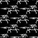 Modello senza cuciture degli stalloni del cavallo Fotografia Stock Libera da Diritti