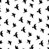 Modello senza cuciture degli uccelli di volo Immagine Stock Libera da Diritti
