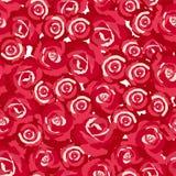 Modello senza cuciture dei boccioli di rosa Immagini Stock