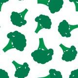 Modello senza cuciture dei broccoli Fondo per progettazione illustrazione vettoriale
