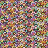 Modello senza cuciture dei cerchi colorati Immagini Stock