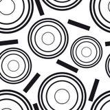 Modello senza cuciture dei cerchi concentrici Illustrazione Vettoriale