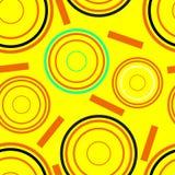 Modello senza cuciture dei cerchi concentrici Illustrazione di Stock