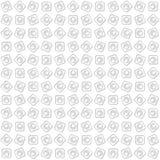 Modello senza cuciture dei cerchi e dei quadrati sottragga la priorità bassa Fotografie Stock