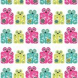 Modello senza cuciture dei contenitori di regalo rosa, blu e verde chiaro Fotografia Stock