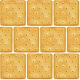 Modello senza cuciture dei cracker quadrati dei biscotti Immagini Stock