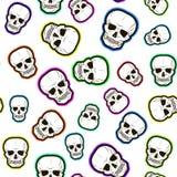 Modello senza cuciture dei crani colorati Fotografia Stock Libera da Diritti