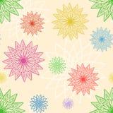 Modello senza cuciture dei crisantemi geometrici Fotografie Stock Libere da Diritti
