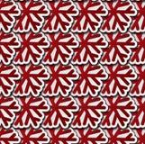Modello senza cuciture dei fiocchi di neve rossi Immagine Stock Libera da Diritti