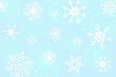 Modello senza cuciture dei fiocchi di neve su fondo bianco, illustrazione, vettore fotografie stock libere da diritti
