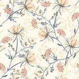 Modello senza cuciture dei fiori di fioritura orientali molli e graziosi, royalty illustrazione gratis